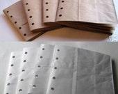 6X6 SEWN paper bag scrapbook albums- 4 Brown 4 white books