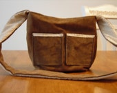 Brown Corduroy Messenger Custom Order