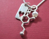 dopamine heart and pearl Valentines Day Necklace