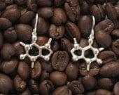 caffeine earrings in solid sterling silver