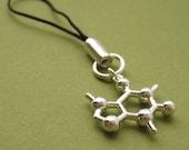 caffeine molecule phone charm