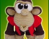 Amigurumi Pattern Crochet Chuck Monkey Chimpanzee Doll DIY Digital Download