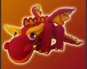 Amigurumi Pattern Crochet JJ Fire Dragon DIY Instant Digital Download PDF