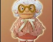 Amigurumi Pattern Crochet Granny Doll DIY Instant Digital Download PDF