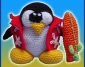 Amigurumi Pattern Crochet Hawaiian Tux Doll DIY Digital Download