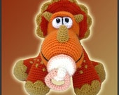 Amigurumi Pattern Crochet Baby Triceratops Dinosaur DIY Digital Download