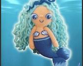 Amigurumi Pattern Crochet Aqua Mermaid Doll DIY Instant Digital Download PDF