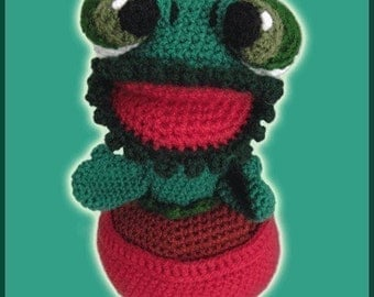Amigurumi Pattern Crochet Carnivorous Plant Doll DIY Digital Download