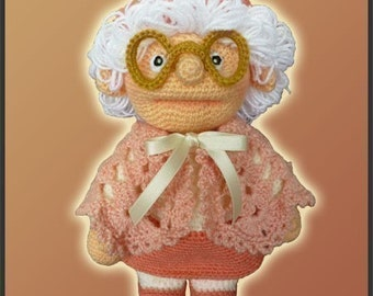 Amigurumi Pattern Crochet Granny Doll DIY Digital Download