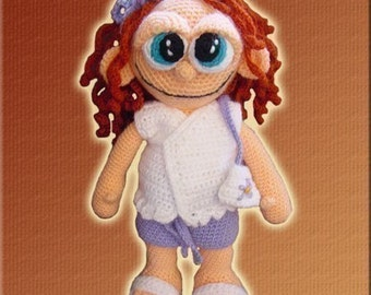 Amigurumi Pattern Crochet Sally Doll DIY Digital Download