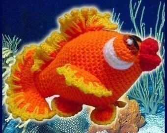 Amigurumi Pattern Crochet Bubbles Little Fish DIY Digital Download
