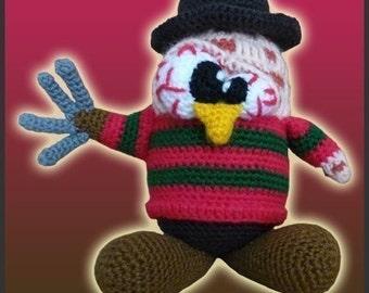 Amigurumi Pattern Crochet Freddy Krueger Tux Penguin DIY Digital Download