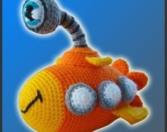 Amigurumi Pattern Crochet Nautilus Submarine DIY Digital Download