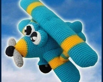 Amigurumi Pattern Crochet Ace Airplane DIY Instant Digital Download PDF