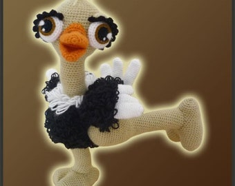 Amigurumi Pattern Crochet Olga Ostrich Bird DIY Digital Download