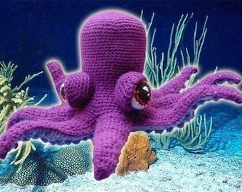 Amigurumi Pattern Crochet Otto Octopus DIY Digital Download
