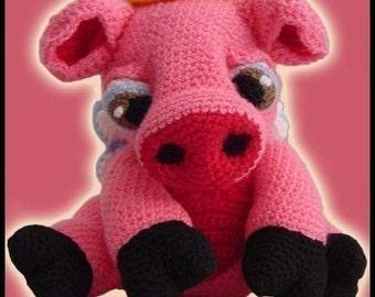 Amigurumi Pattern Crochet Angie Pig Doll DIY Digital Download