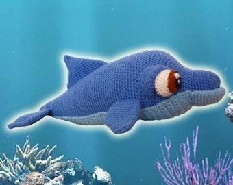 Amigurumi Pattern Crochet Bottlenose Dolphin DIY Digital Download