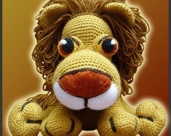 Amigurumi Pattern Crochet Leonidas Lion Doll DIY Instant Digital Download PDF