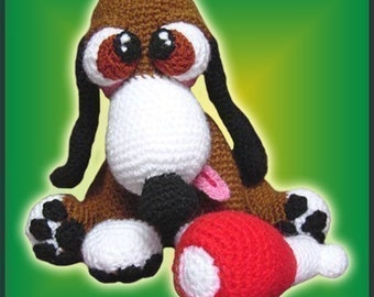 Amigurumi Pattern Crochet Skippy Puppy Dog DIY Instant Digital Download PDF