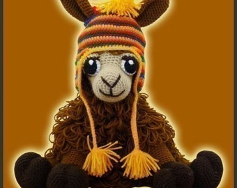 Amigurumi Pattern Crochet Coquena Llama Doll DIY Instant Digital Download PDF