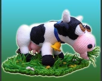 Amigurumi Pattern Crochet Aurora Cow Doll DIY Digital Download