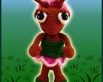 Amigurumi Pattern Crochet Abby Ant Doll DIY Digital Download