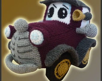 Amigurumi Pattern Crochet Classic Vintage Car DIY Instant Digital Download PDF