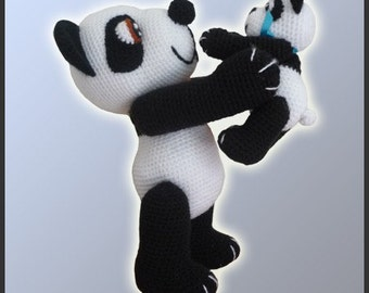 Amigurumi Pattern Crochet Panda Bears DIY Instant Digital Download PDF