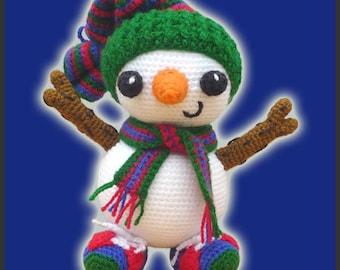 Amigurumi Pattern Crochet Frosty Snowman DIY Instant Digital Download PDF