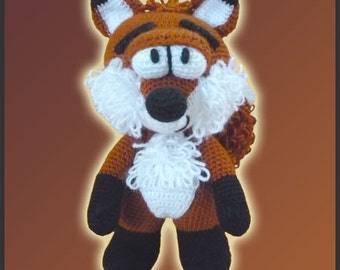 Amigurumi Pattern Crochet Mr Fox DIY Instant Digital Download PDF