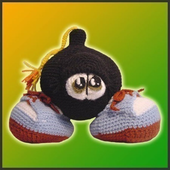 Amigurumi Pattern Crochet Baby Nuke Bomb Doll DIY Instant