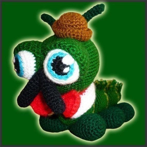 Amigurumi Pattern Crochet Sir Charles Caterpillar Bug DIY Digital Download