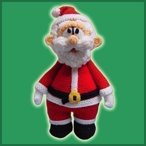 Amigurumi Pattern Crochet Santa Claus Doll DIY Instant Digital