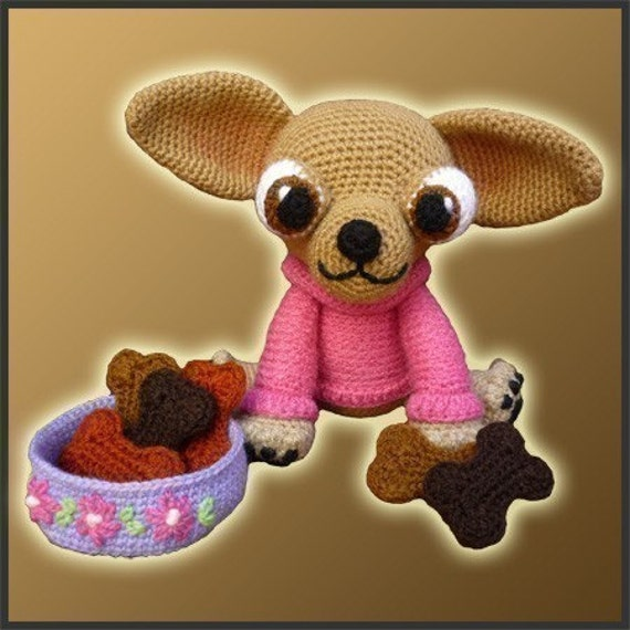 Amigurumi Pattern Crochet Lupita Chihuahua Dog DIY Digital Download