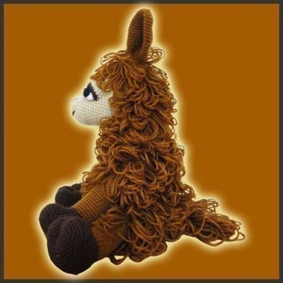 Crochet Llama Amigurumi Pattern : Amigurumi Pattern Crochet Coquena Llama Doll DIY Instant