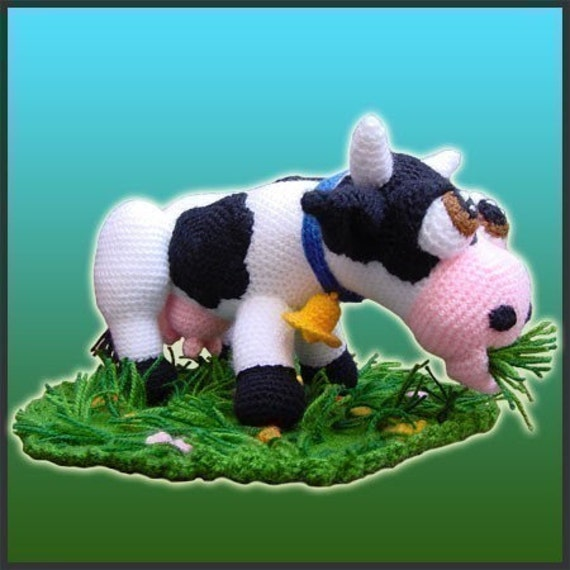 Amigurumi Pattern Crochet Aurora Cow Doll DIY Digital Download