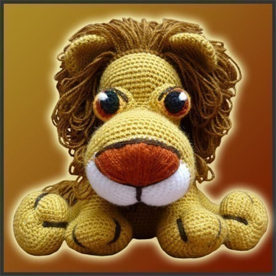 Amigurumi Pattern Crochet Leonidas Lion DIY Digital Download