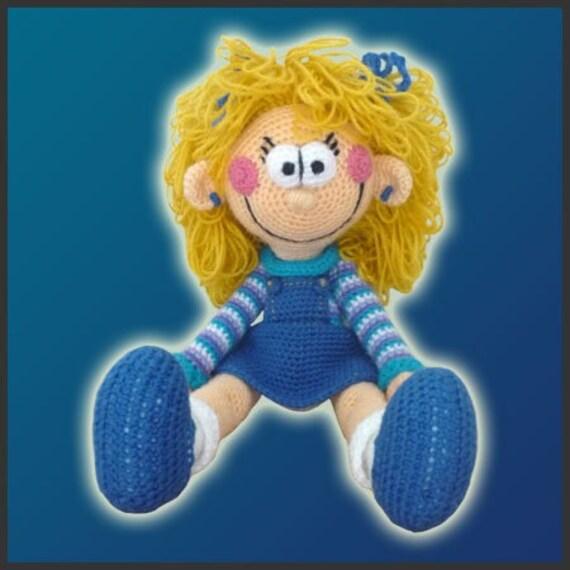 Amigurumi Pattern Crochet Polly Doll DIY Instant Digital Download PDF