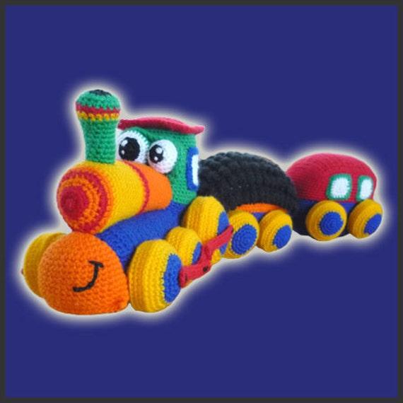 Amigurumi Crochet Patrón - tren feliz