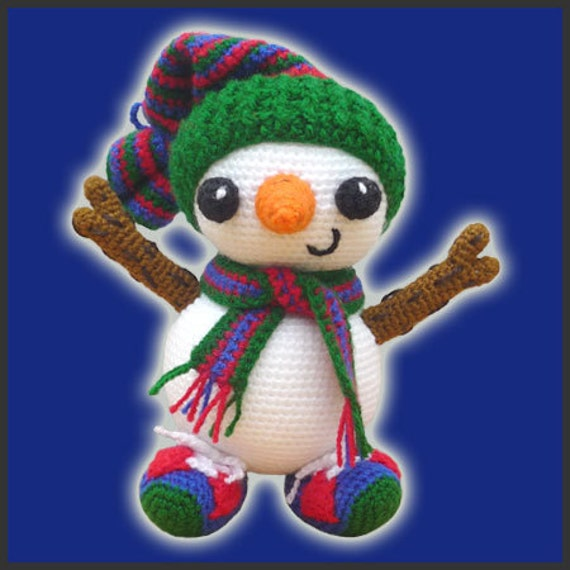 Amigurumi Pattern Crochet Frosty Snowman DIY Digital Download