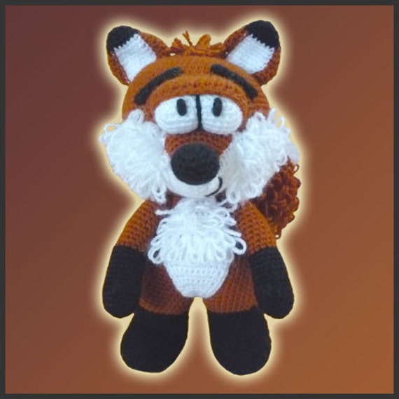Amigurumi Pattern Crochet Mr Fox DIY Digital Download