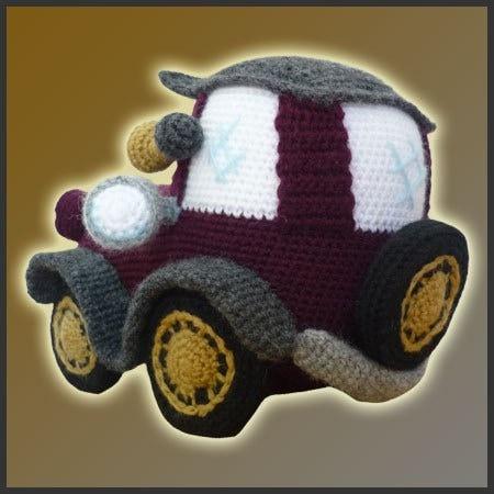 Amigurumi Patterns Cars : Amigurumi Pattern Crochet Classic Car DIY by DeliciousCrochet