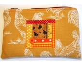 Top-Zip Roosters Pen Pouch (ID 49)