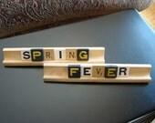 Vintage Letter Tile Decoration- Spring Fever