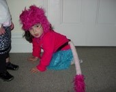 Pink Roar animal hood and tail
