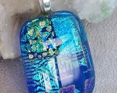 Genuine Dichroic Fused Glass Pendant FANTASIA