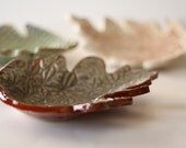 SALE Ceramic Leaf Dish Great for Soap or Candy Size Large