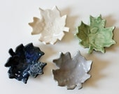 Turning over a New Leaf  Set of 4 Wee Colorful Leaves for Decorating