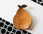 Ceramic Pear Ring Catcher //  Great for Thank You Gift or Holiday